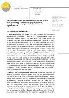 Schriftlicher Bericht für die öffentliche Anhörung zum Entwurf