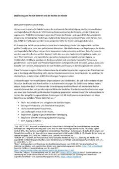 Stellungnahme von 24 Verbänden und Organisationen: Ankerzentren für Kinder und Jugendliche ungeeignet