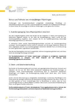 BumF-Positionspapier zum Asyl- und Aufenthaltsrecht