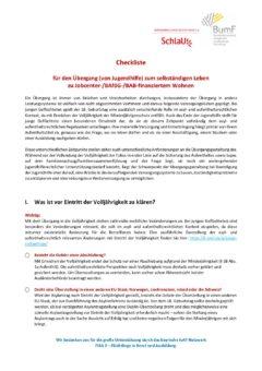 2018_Lange Checkliste fuer den Uebergang ins Erwachsenenleben