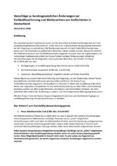Stellungnahme Verbände und Vereine zum Referententwurf eines Fachkräfteeinwanderungsgesetzes