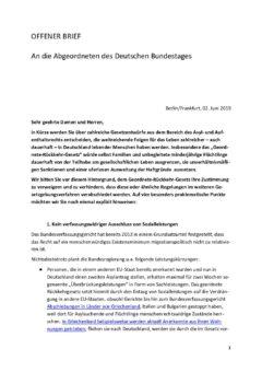 Offener Brief Geordnete-Rückkehr-Gesetz